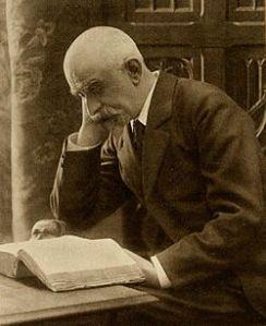 Joris-Karl Huysmans reading a book.
